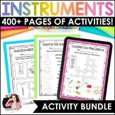 Musical Instruments BUNDLE! {Posters, Labels, Quizzes, Col