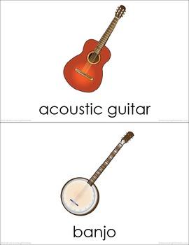 Musical Instruments BUNDLE (set I, II, III) Picture Flashcards