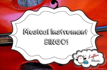Musical Instruments Bingo AND Randomized PowerPoint Calling Cards