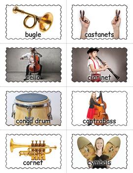 Musical Instruments Bingo Game