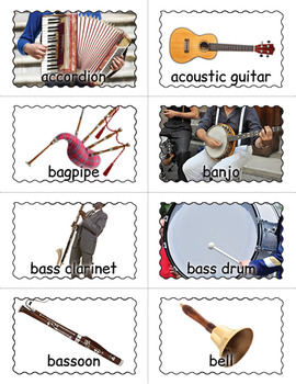 photo relating to Printable Pictures of Musical Instruments identified as Printable Musical Applications BINGO Match