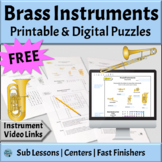 Musical Instruments Families | FREE BRASS Word Search & Crossword Puzzles