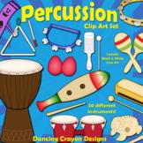 Musical Instruments: Classroom Percussion Instruments Clip Art Bundle