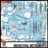 Musical Instruments Clip Art Line Art