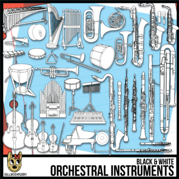 Musical Instruments Clip Art Line Art