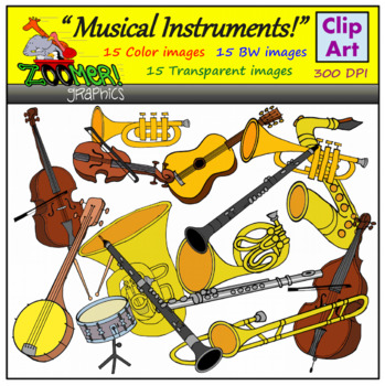 musical instruments clip art black and white teaching resources rh teacherspayteachers com instrument clip art free instrument clip art free