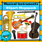 Musical Instruments Clipart Megapack (22 images)