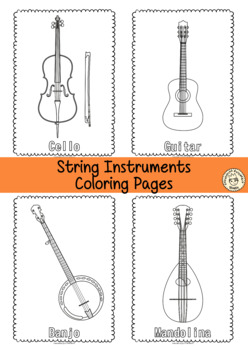musical instruments coloring pages