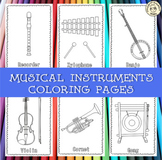 Musical Instruments Coloring Pages | Distance Learning