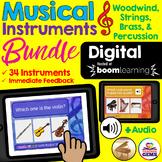 Musical Instruments Digital Boom Cards Bundle