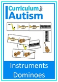 Musical Instruments Dominoes Game Autism