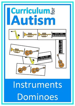 Musical Instruments Dominoes Game, Turn Taking Skills Auti