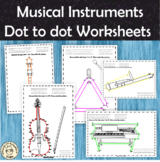 Musical Instruments Dot to dot Worksheets