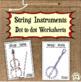Musical Instruments Dot to dot Worksheets Bundle