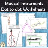 Musical Instruments Dot to Dot Worksheets Bundle | PDF & Digital
