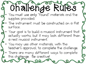 Musical Instruments: Engineering Challenge Project ~ Great STEM Activity!