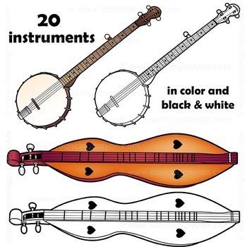 Musical Instruments: Folk Instruments Clip Art