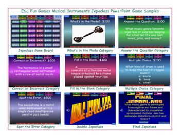 Musical Instruments Jeopardy PowerPoint Game Slideshow