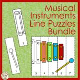 Musical Instruments Line Puzzles Bundle | Coloring Pages