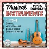 Musical Instruments MEGA BUNDLE - 11 Games/Worksheets/Bulletin Board