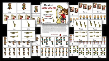 Musical Instruments Math & Literacy Bundle / Montessori Style / Hands-on