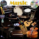 Musical Instruments Music Clip Art Photo & Artistic Digital Stickers