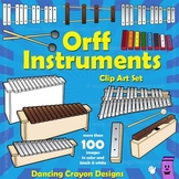 Orff Instruments: Musical Instruments Clip Art