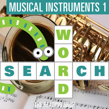 Musical Instruments Part 1 Word Search - Primary Grades - Wordsearch Puzzle