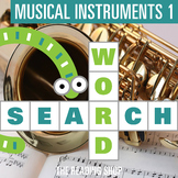 Musical Instruments 1 Word Search Puzzle - 3 Levels Differ