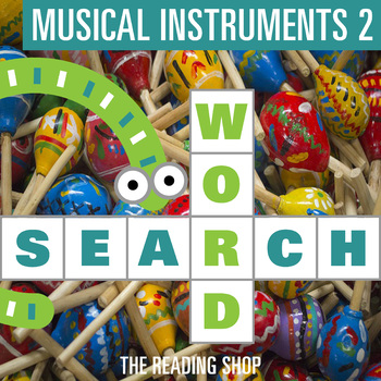 Musical Instruments Part 2 Word Search - Primary Grades - Wordsearch Puzzle