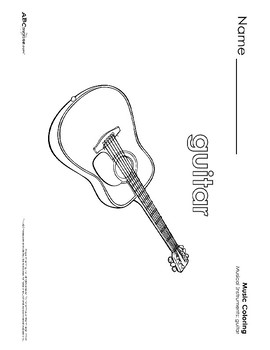 Musical Instruments Printables Collection