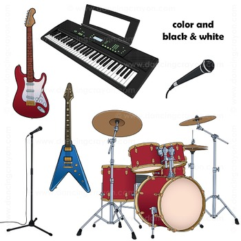 Musical Instruments Clip Art: Rock Band Clipart
