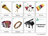 Musical Instruments: *SPANISH* Montessori 3-part Cards