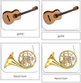 Musical Instrument Safari Toob Cards - Montessori