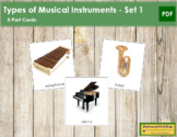 Musical Instruments (Set 1): 3-Part Cards