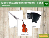Musical Instruments (Set 2): 3-Part Cards