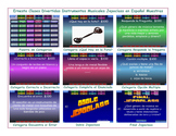Musical Instruments Spanish Jeopardy Game