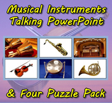 Musical Instruments Talking PowerPoint & Four Puzzle Pack