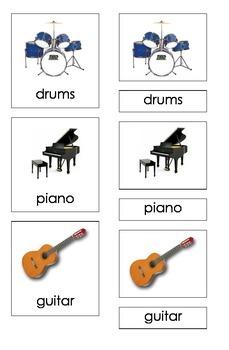 Musical Instruments (Three Part Montessori Cards)