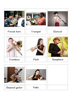 Musical Instruments Toob 3-part cards