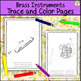 Musical Instruments Trace and Color Pages Pack