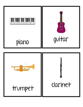 Musical Instruments Write the Room