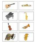 Musical Instruments and Country Origin Flashcards