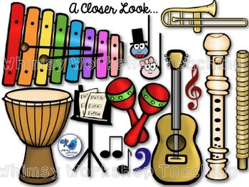 Musical Instruments and Notes Bundle