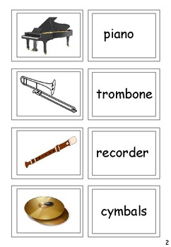 Musical Instruments for EAL / ESL / ELL