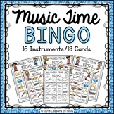 Musical Instruments for Kids Bingo