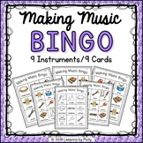 Musical Instruments for Preschoolers Bingo