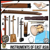 Musical Instruments of East Asia Clip Art