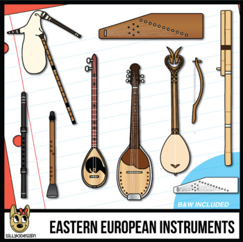 Musical Instruments of Eastern Europe Clip Art