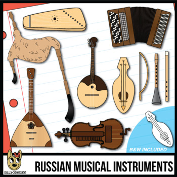 Musical Instruments of Russian  Clip Art